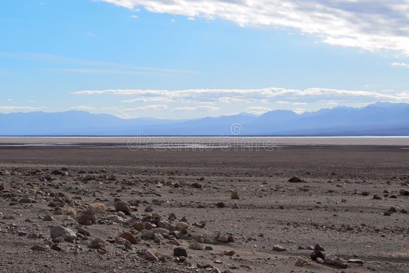 O Vale da Morte - deserto infinito fotografia de stock