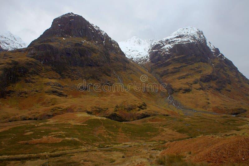 O vale de Glencoe imagens de stock