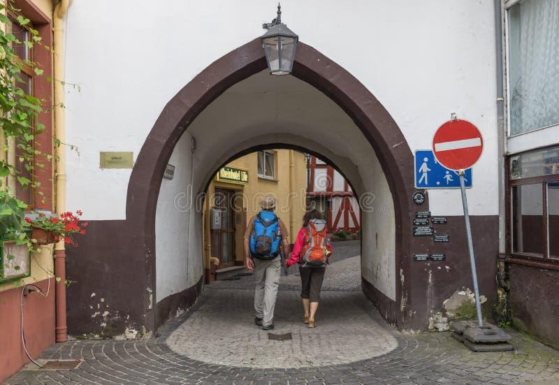 O vale de Moselle, suas vilas, sua natureza imagens de stock