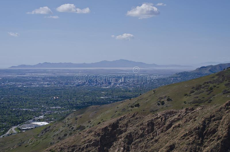 O vale de Salt Lake City fotografia de stock