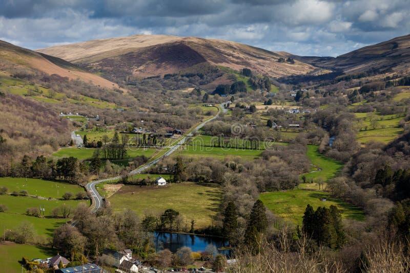 O vale de Swansea fotos de stock royalty free