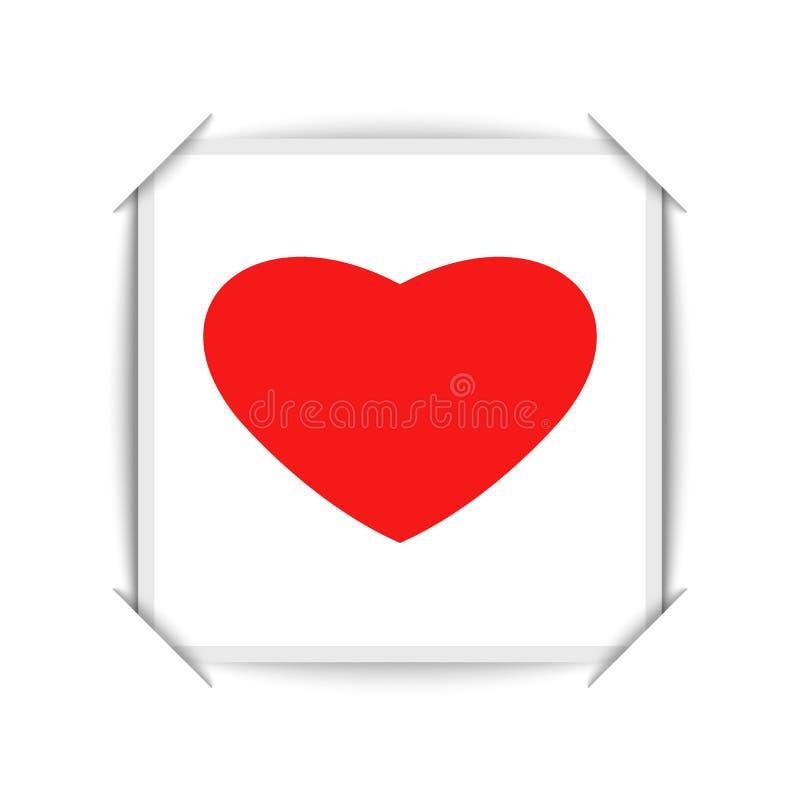O Valentim feliz é projeto de cartão do dia é um cartaz vazio do partido do amor ou cantos do modelo da bandeira de uma foto real ilustração stock
