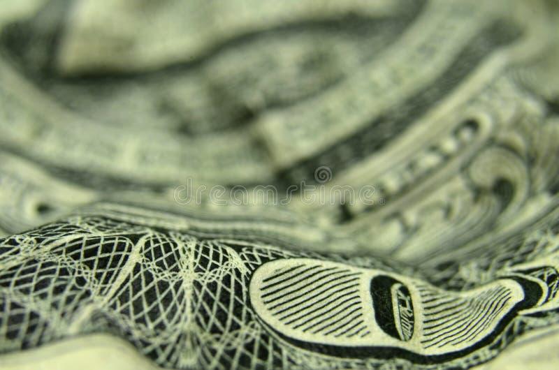 O van op de Amerikaanse dollarrekening royalty-vrije stock afbeeldingen