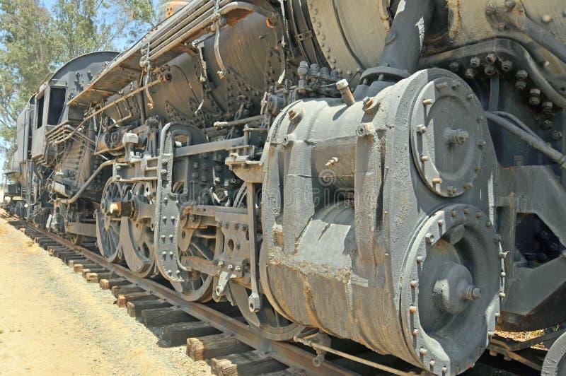 O vapor pôs os pistões na locomotiva de ALCO imagens de stock