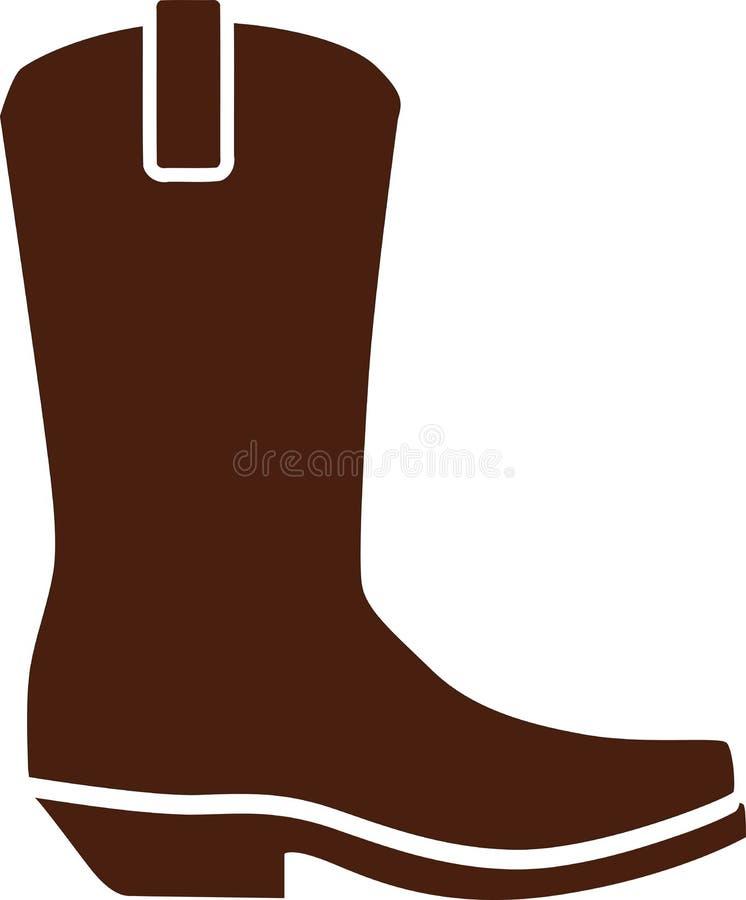 O vaqueiro ocidental calça botas ilustração stock