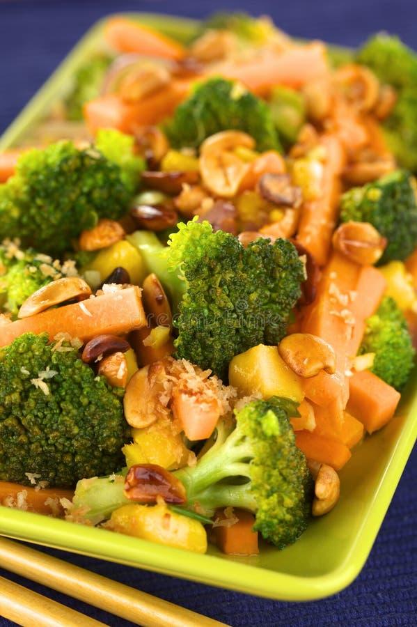 O vegetariano Agitar-Frita o Tailandês-Estilo imagens de stock royalty free