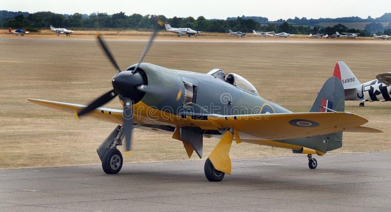 O vendedor ambulante Sea Fury é um avião de lutador britânico projetado e manufaturado pelo vendedor ambulante fotos de stock royalty free