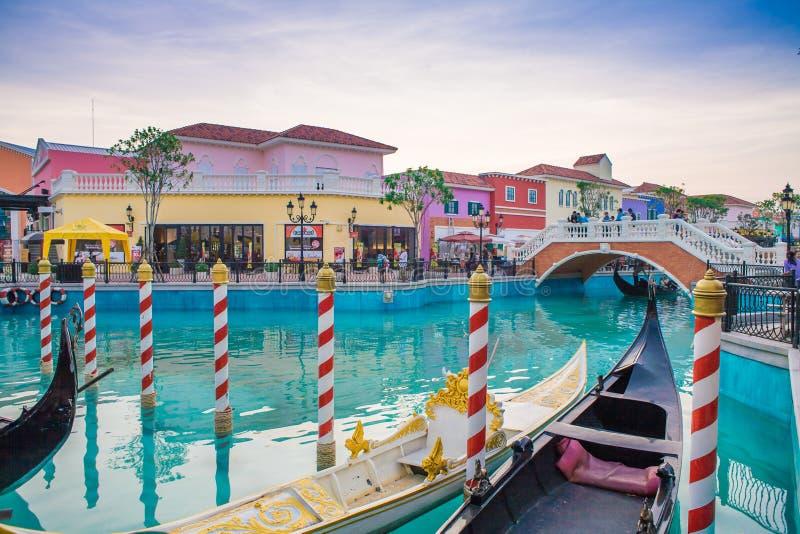 O Venezia Hua Hin, um local de encontro da compra no estilo de Veneza fotografia de stock royalty free