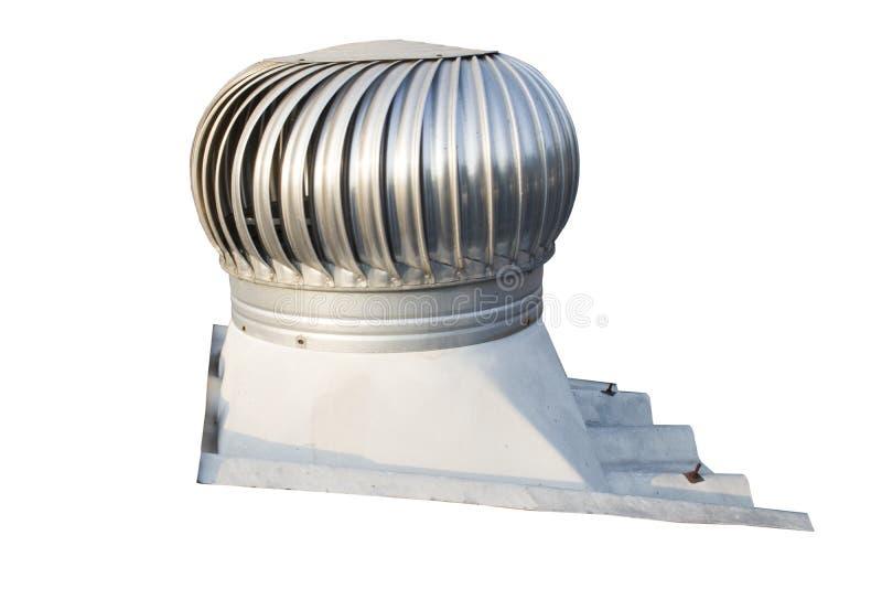 O ventilador do telhado no telhado da indústria, ajuda a ventilar o ar quente que flutua em alto dentro da construção sai ao mesm foto de stock royalty free