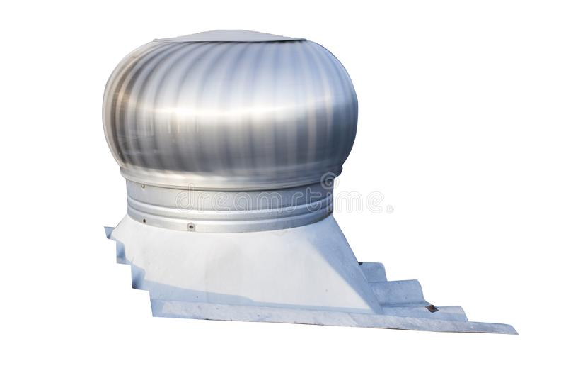 O ventilador do telhado no telhado da indústria, ajuda a ventilar o ar quente que flutua em alto dentro da construção sai ao mesm fotografia de stock