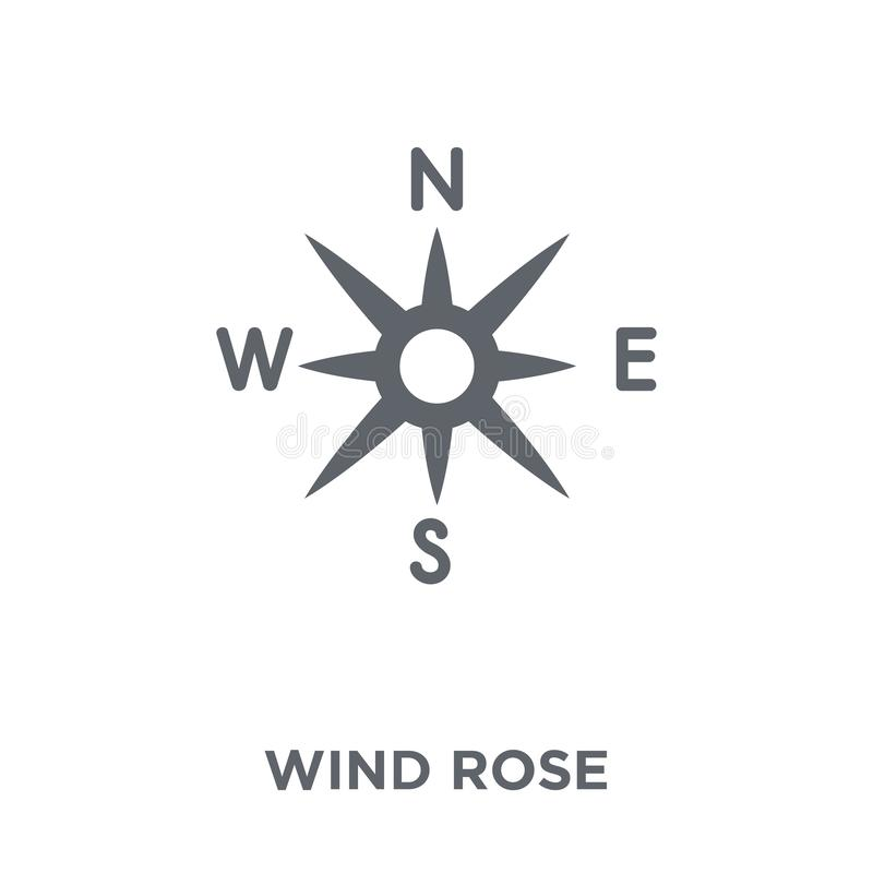 O vento aumentou ícone da coleção de acampamento ilustração stock
