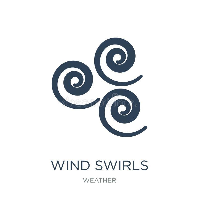 o vento roda ícone no estilo na moda do projeto o vento roda ícone isolado no fundo branco o vento roda ícone do vetor simples e  ilustração do vetor