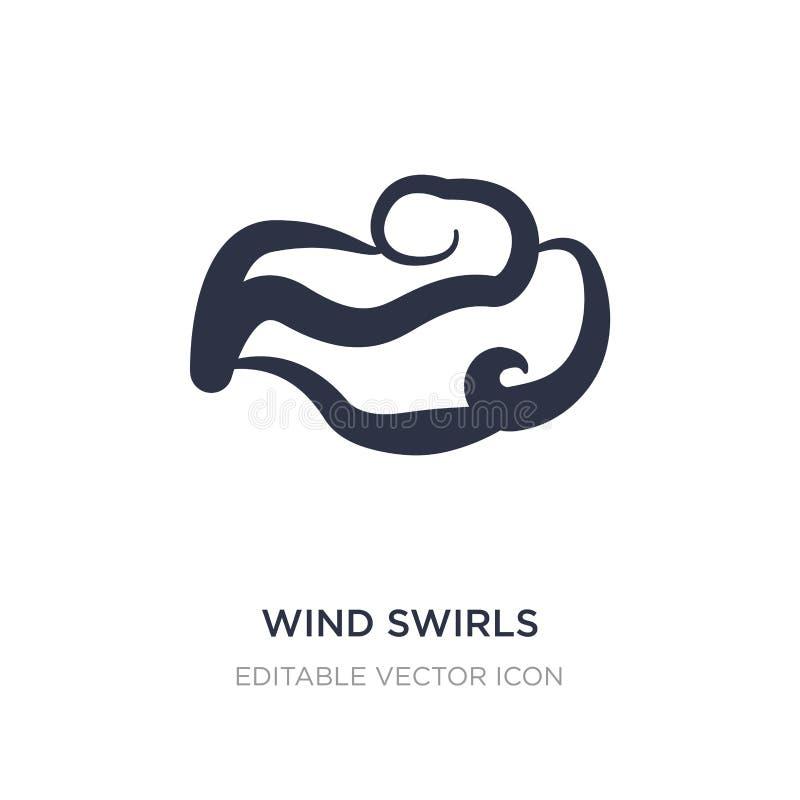 o vento roda ícone no fundo branco Ilustração simples do elemento do conceito do tempo ilustração royalty free