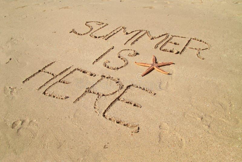 O verão está aqui imagem de stock