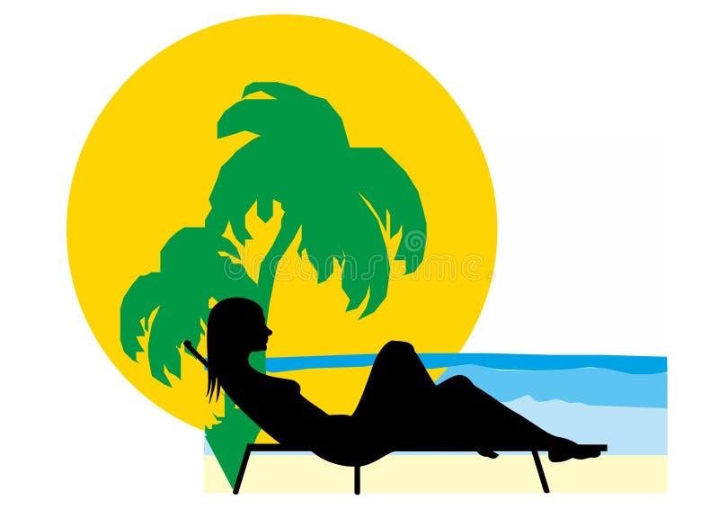 O verão relaxa ilustração royalty free