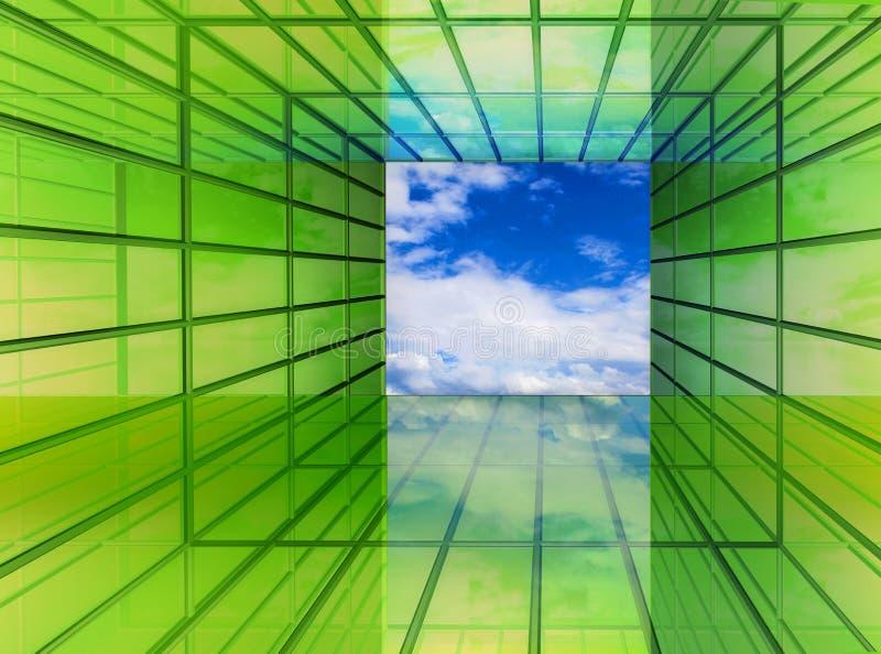 O verde é o futuro ilustração stock