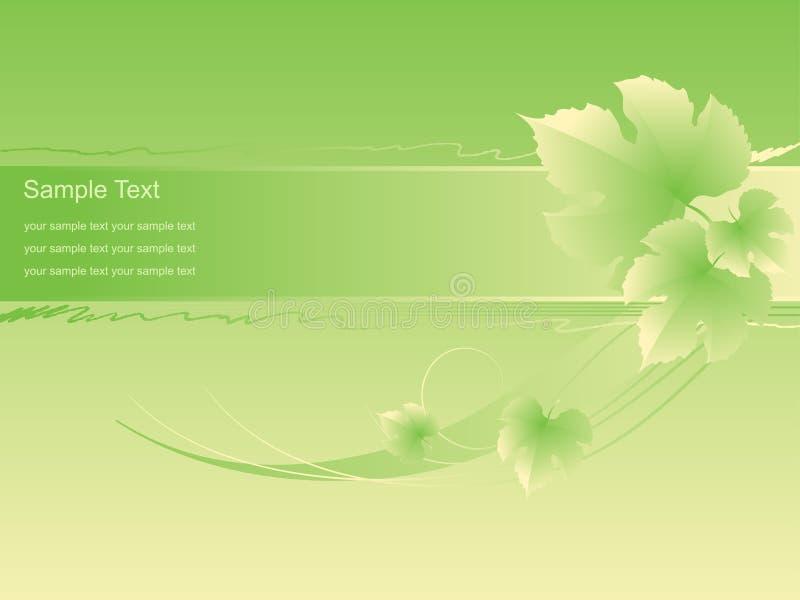 O verde bonito folheia fundo. ilustração do vetor