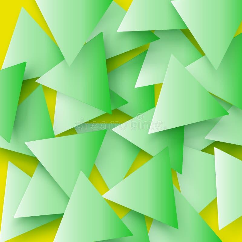 O verde coloriu a textura geométrica poligonal abstrata, fundo do triângulo 3d Fundo triangular do mosaico para a Web ilustração royalty free