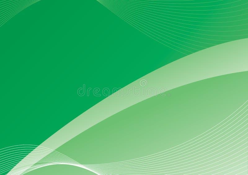 O verde curva o fundo foto de stock