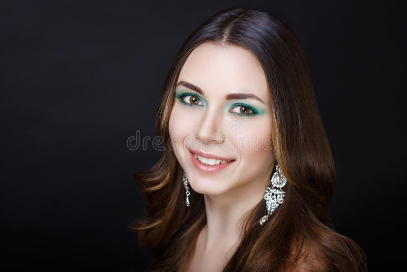 O verde da mulher compõe imagens de stock