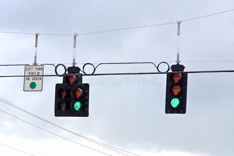 O verde da série do sinal de trânsito do tráfego vai imagens de stock royalty free
