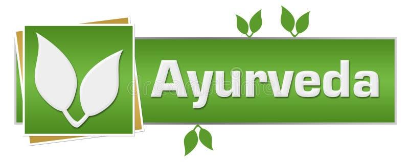 O verde de Ayurveda sae horizontal ilustração royalty free