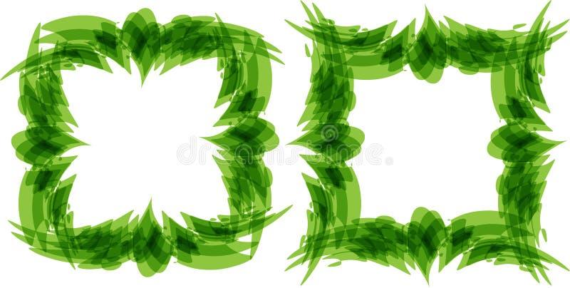 O verde deixa o quadro, composição estilizado ilustração do vetor