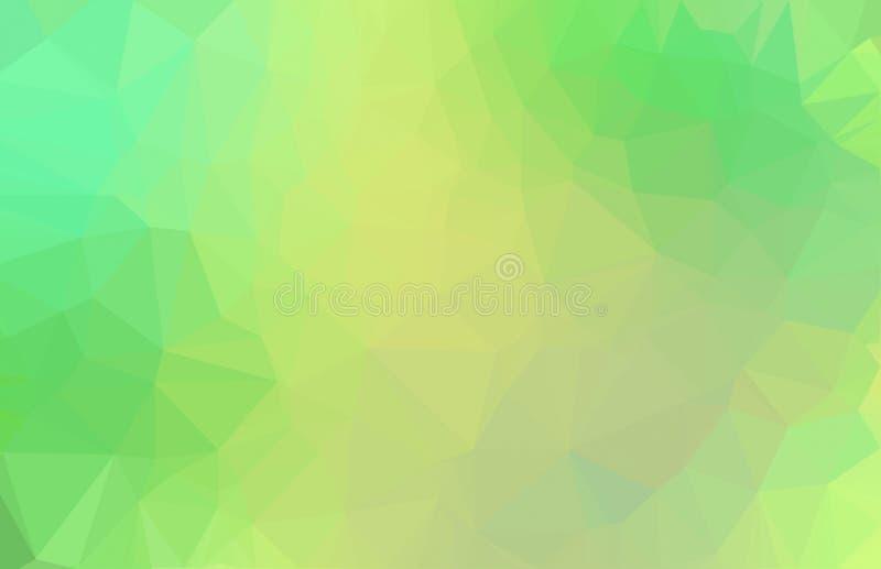 O verde do sumário coloriu o baixo fundo poli ilustração royalty free