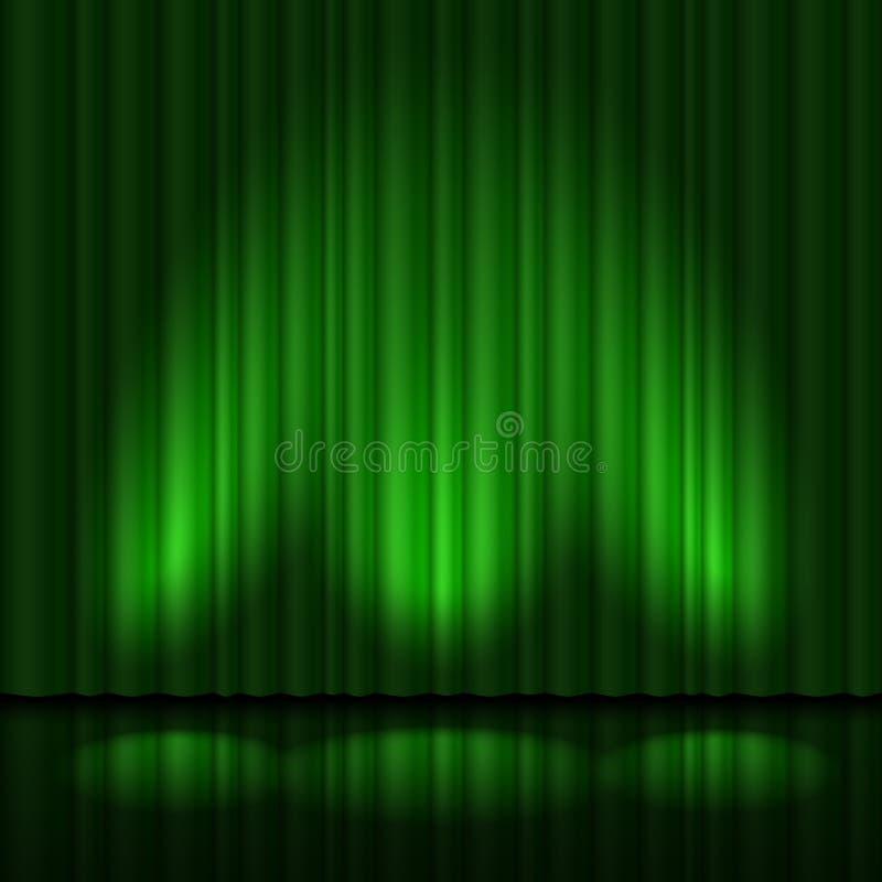 O verde drapeja ilustração do vetor