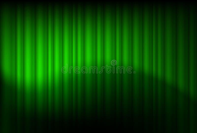O verde drapeja refletido ilustração do vetor