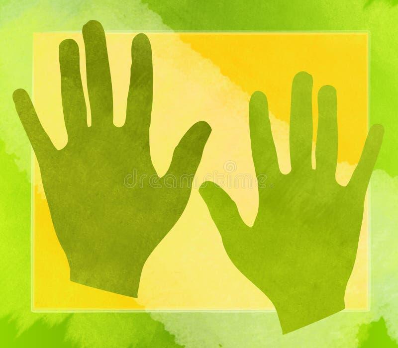 O verde entrega o fundo da colagem ilustração royalty free