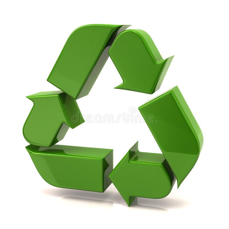 O verde recicl setas ilustração do vetor
