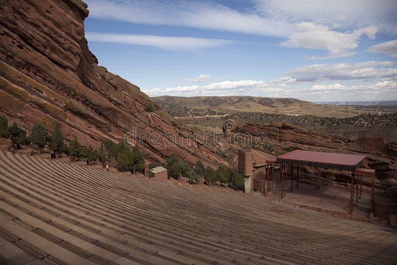 O vermelho balança o anfiteatro Denver imagens de stock
