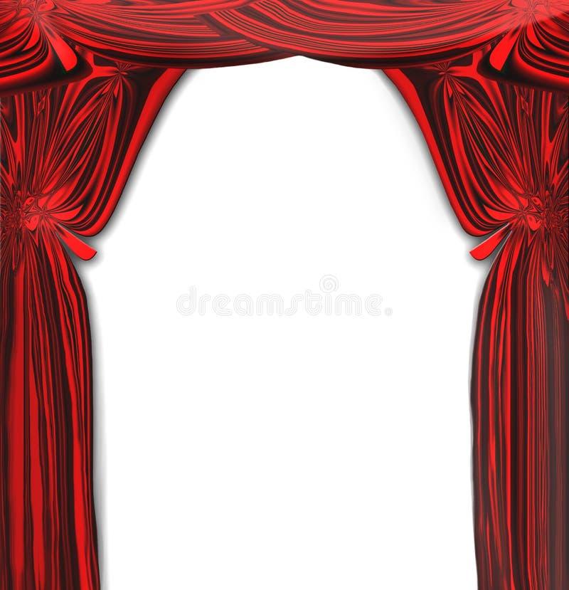 O vermelho bonito do vetor drapeja ilustração royalty free