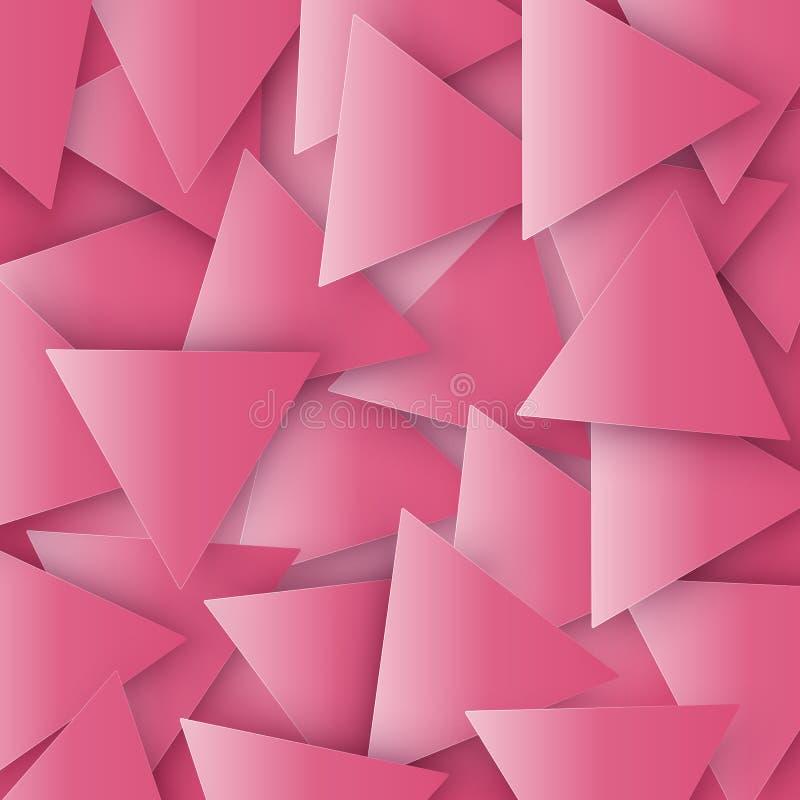 O vermelho coloriu a textura geométrica poligonal abstrata, fundo do triângulo 3d Fundo triangular do mosaico para a Web ilustração do vetor