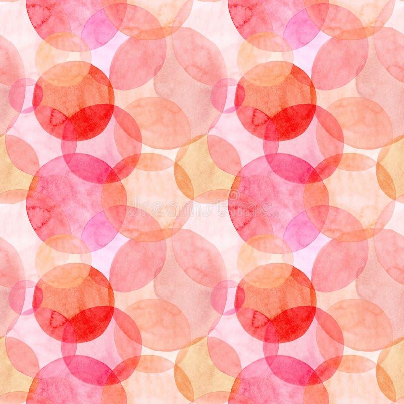 O vermelho cor-de-rosa alaranjado do outono brilhante transparente maravilhoso macio artístico bonito abstrato circunda a aquarel ilustração royalty free