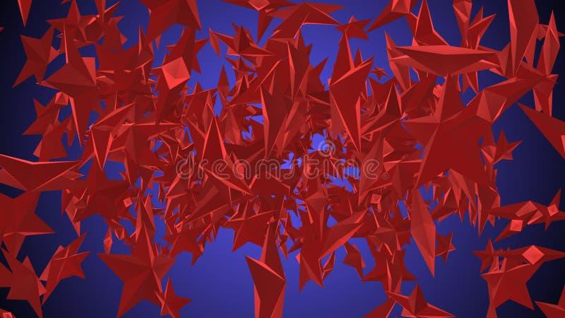 O vermelho de giro Stars a ilustração ilustração royalty free