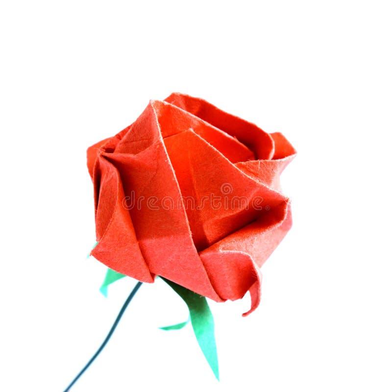 O vermelho de Origami levantou-se foto de stock royalty free