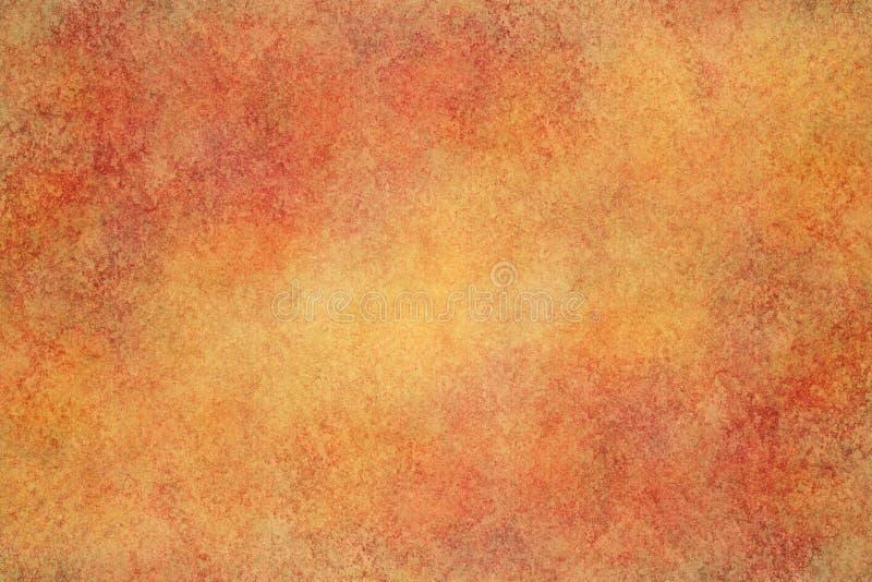 O vermelho do outono coloriu a textura da lona do grunge ou o fundo da pintura da aquarela do vintage imagens de stock royalty free