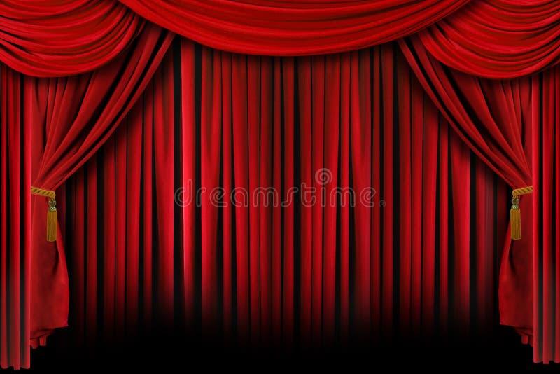 O vermelho drapeja com sombras profundas imagem de stock royalty free