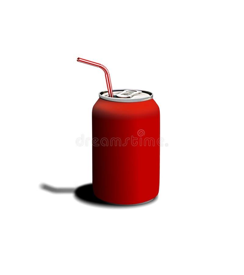 O vermelho pode ilustração do vetor
