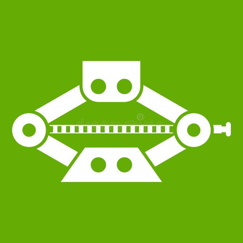O vermelho scissor o verde do ícone do jaque do carro ilustração do vetor