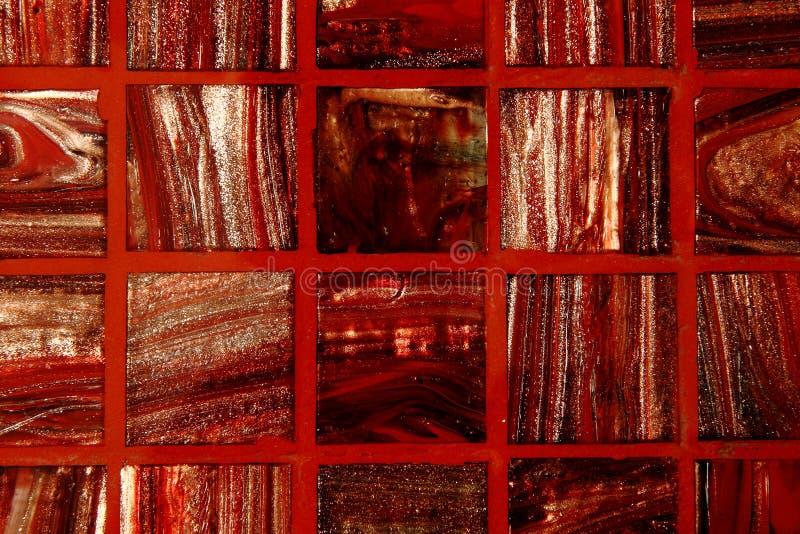 O vermelho telha o fundo fotografia de stock
