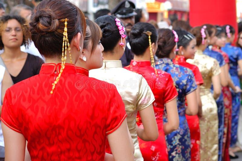 O vestido de Cheongsam foto de stock