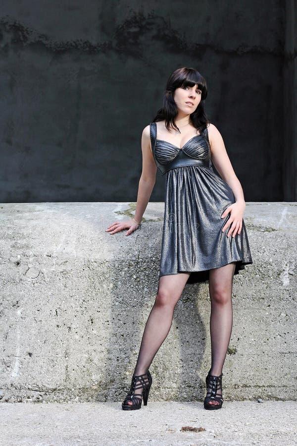O vestido de prata imagem de stock