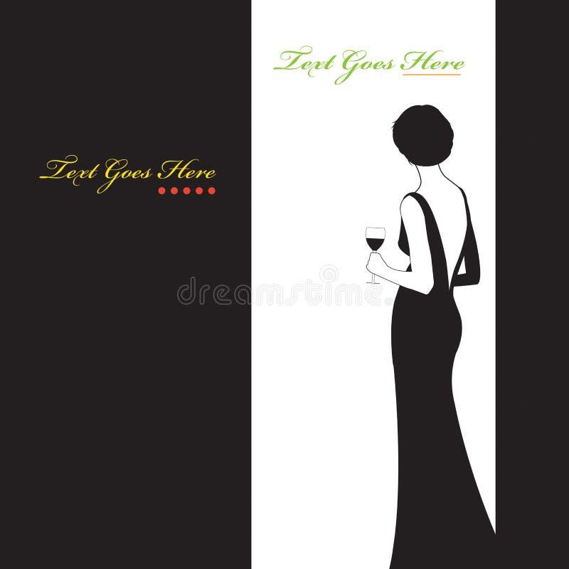 O vestido preto ilustração royalty free
