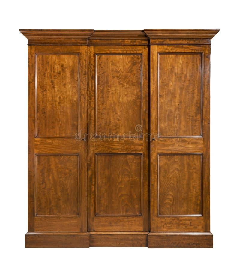 O vestuário antigo do quarto fechou de madeira isolado fotografia de stock