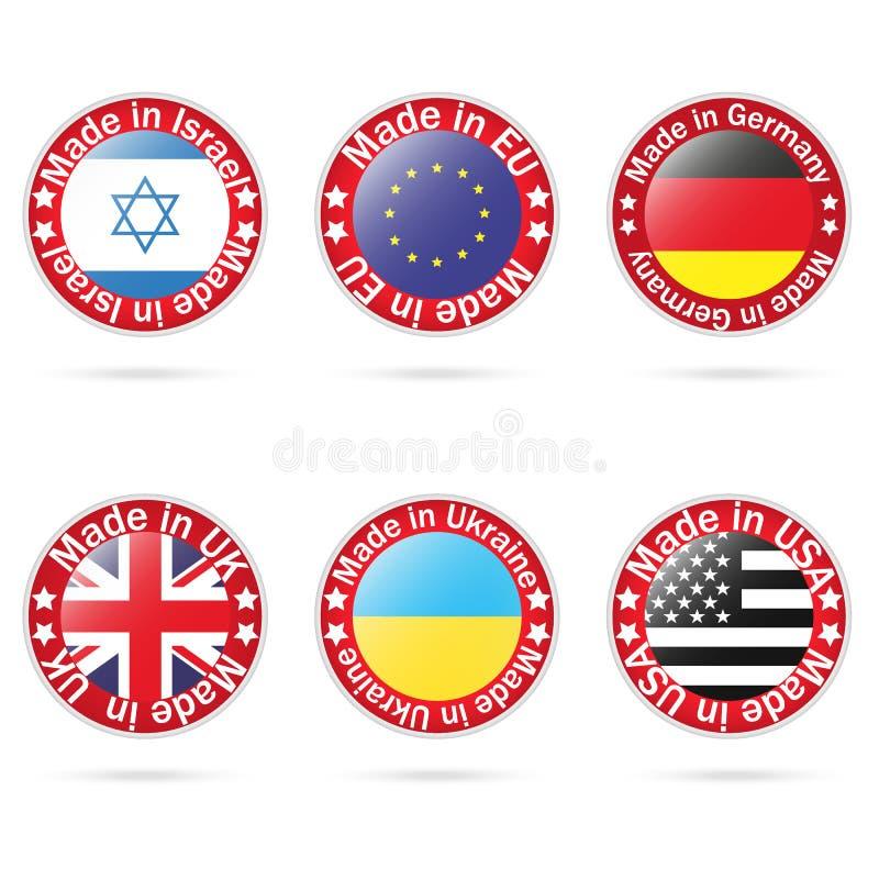 O vetor ajustou logotipos feitos no símbolo para seus produtos, infographic, Web e apps ilustração stock