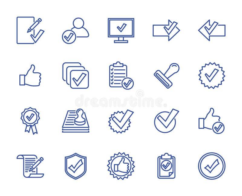 O vetor alinha ícones ilustração stock