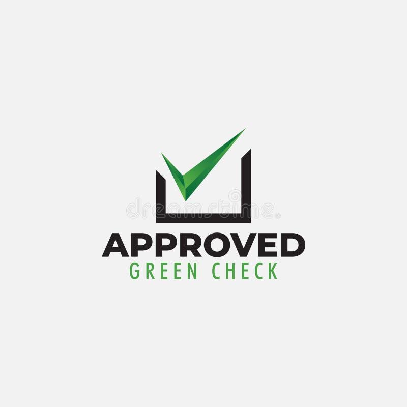 O vetor aprovado do molde do projeto do logotipo isolou-se ilustração do vetor